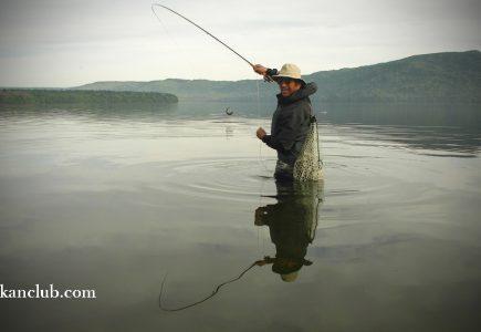 小島で釣りました