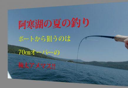 阿寒湖真夏のボートフィッシング